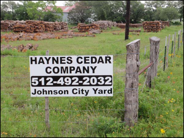 Haynes Cedar Company Texas Mountain Cedar Fence Posts